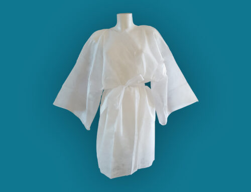 Nonwoven protective disposable kimono