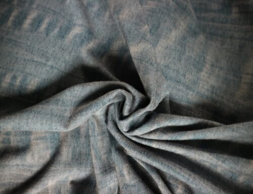 Jersey fabric with washout effect